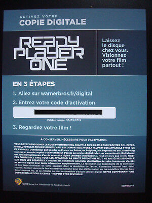 READY PLAYER ONE Steven Spielberg 2018 Film Copie Digitale Warner Bros