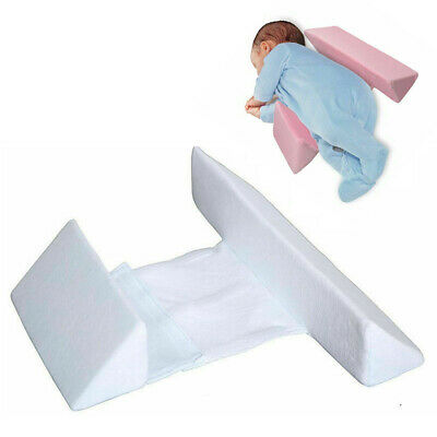 Infant Sleep Pillow Support Wedge Adjustable Width For Baby Newborn Anti Flat#