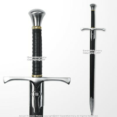 "37"" Hand and a Half  Medieval Crusader Knight Arming Sword with Scabbard"
