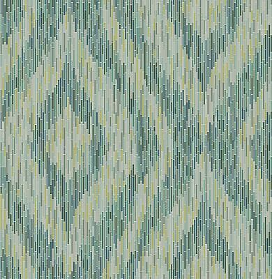 A−Street Prints by Brewster 2763-24219 Moonlight Ethereal Green Ogee Wallpaper