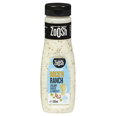 Zoosh Creamy Garlic & Parsley Whip Crackin Rock'N Ranch Dressing 200mL