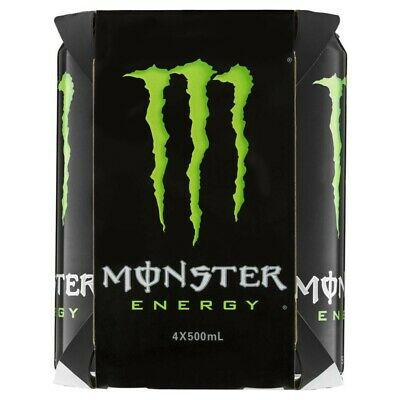 Monster Green Cans Energy Drink 4 pack 500ml