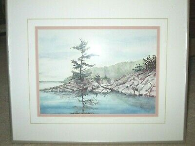 Original Landscape Watercolour Painting, Artist Signed, Professionally FRAMED