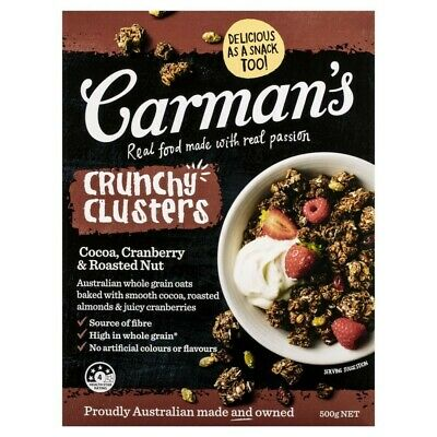Carman's Cocoa Cranberry & Roasted Nut Crunchy Clusters 500 gram