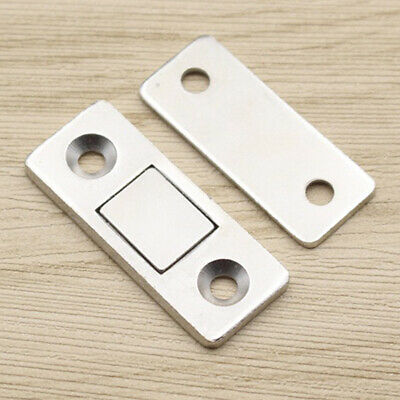 2Pcs Small Magnetic Door Catches Kitchen Cupboard Wardrobe Cabinet Latch Catch