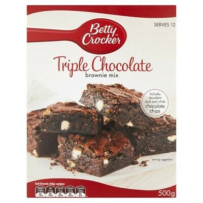 Betty Crocker Triple Chocolate Fudge Brownie Mix 500g