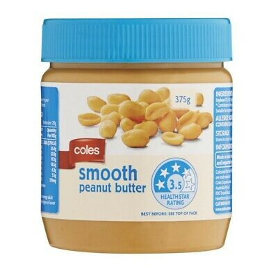 Coles Peanut Butter Smooth 375g