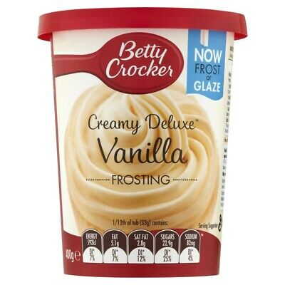 Betty Crocker Creamy Deluxe Vanilla Frosting 400g