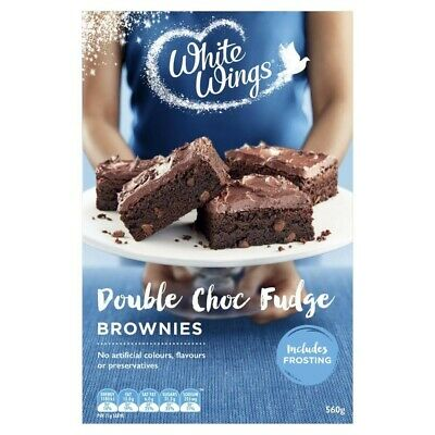White Wings Double Chocolate Fudge Brownies Baking Mix 560g