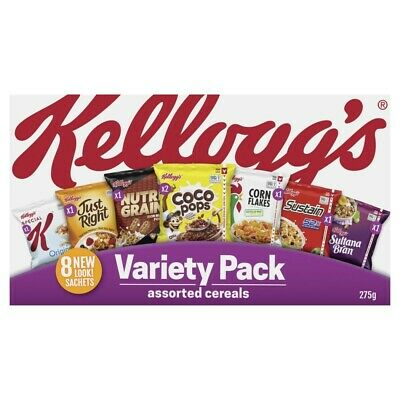 Kellogg's Assorted Breakfast Cereals Variety Pack 275g