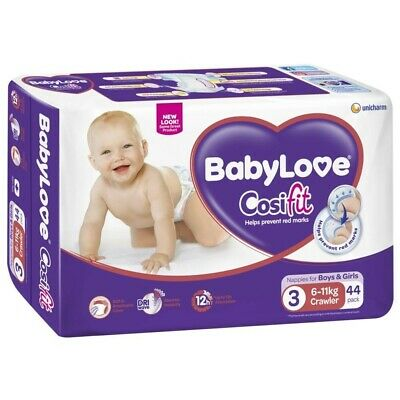 Babylove Unisex Crawler Nappies 6-11kg 44 pack