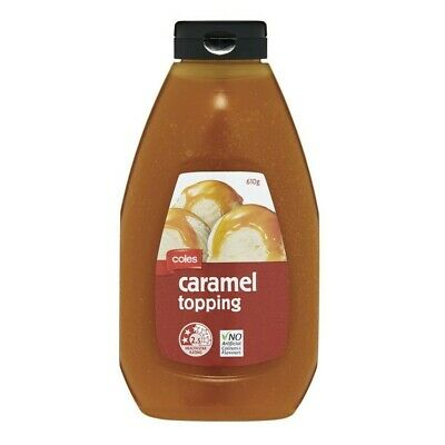 Coles Caramel Topping 610g