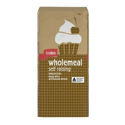 Coles Wholemeal Self Raising Flour 1kg