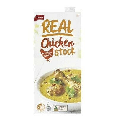 Coles Real Chicken Stock 1L