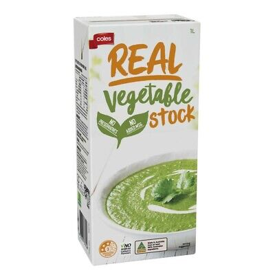 Coles Real Vegetable Stock 1L