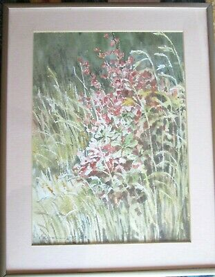 ORIGINAL Landscape Watercolour Painting on Paper, Artist Signed, Matted & FRAMED