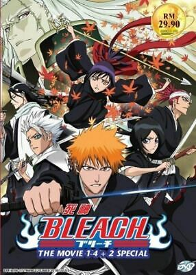 DVD Anime *ENGLISH DUBBED* BLEACH THE MOVIE 1-4 + 2 SPECIAL Box Set IT
