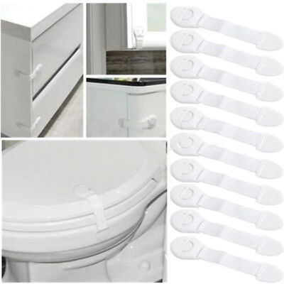 10Pcs/Set Children Infant Baby Drawer Door Cabinet Cupboard Toddler Safety Locks