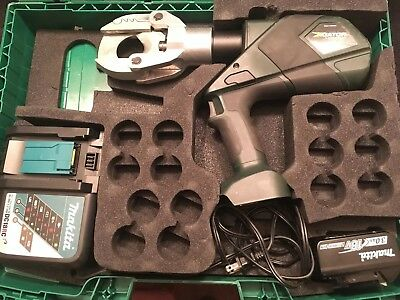 "Greenlee Gator 18v esg50x 6.2 Ton With battery, charger & case ""NICE"""