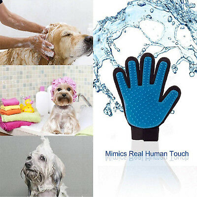 Pet Grooming Gloves Brush Dog Cat Hair Remover Mitt Massage Deshedding