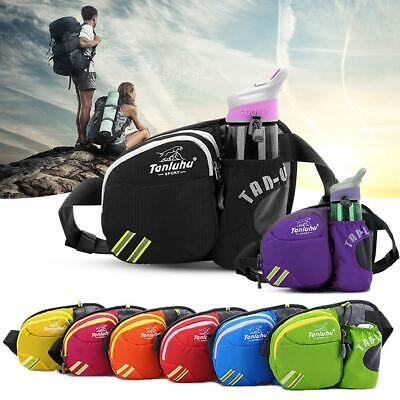 Unisex Sports Waist Bag Belt Fanny Pack Hiking Running Bag Water Bottle Holder