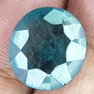 12.76 Cts 14Mm Si Oval Peacock Green Natural Emerald Loose Gemstone