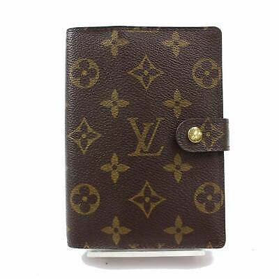 Authentic Louis Vuitton Diary Cover Agenda PM Browns Monogram 369067