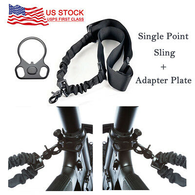 For 2AR Rifle Gun with Plate Mount Adapter Tactical 1 One Single Point Sling