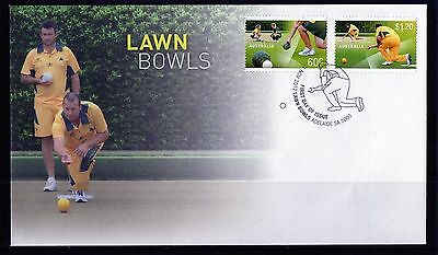 2012 Australia Lawn Bowls Set Of 2 First Day Cover, Mint Condition
