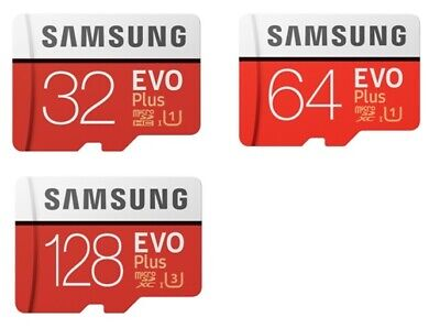 MicroSD Samsung EVO Plus 32 GB, 64 GB ,128 GB + SD ADAPTER - UHS1 Cl10