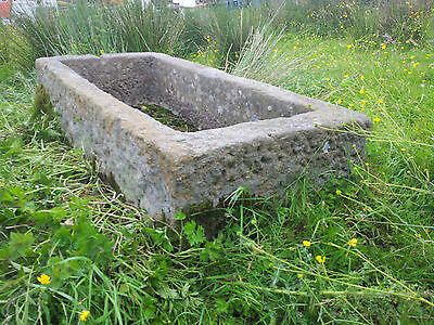 ANTIQUE  Large stone trough hand carved sandstone 5ft + long Excellent condition