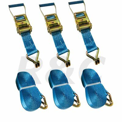 (Pack of 3) Truck Cargo Ratchet Straps 5 Ton x 10M Heavy Duty Lashing Tie Downs