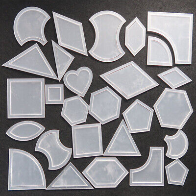 54Pcs Mixed Handmade Quilt Templates Patchwork Quilter DIY Tools Quilting Supply