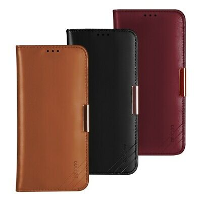 DZGOGO Royale Series II Genuine Leather Wallet Case Cover for Samsung Galaxy S10