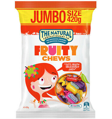 The Natural Confectionery Co. Fruit Chews 420g x 6