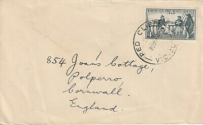 1959 Australia cover sent from Red Cliffs to Polperro Cornwall