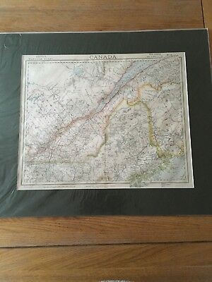 Letts, Son & Co Map Of Canada Quebec Area