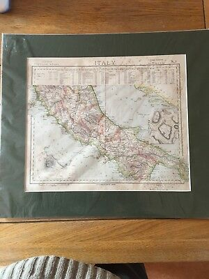 Letts, Son & Co Map Of Italy Area And Population C1885