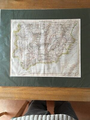 Letts, Son & Co Map Of Spain & Portugal C1883