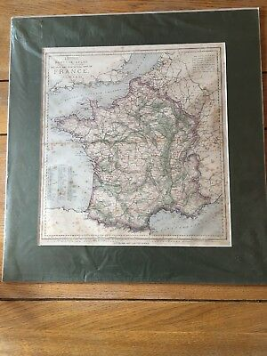 Letts, Son & Co Railway And Statistical Map Of France C1883