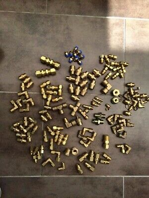 Plumbing Large Mixed Job Lot of Brass Compression Fittings 15mm 22mm 28mm