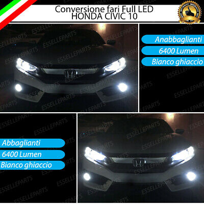 Kit Fari Full Led Honda Civic 10 Anabbaglianti Abbaglianti Canbus 6000K No Error