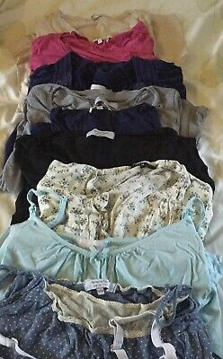 Maternity Bundle Size 8 / 10 12 / 14 Mamas & Papas 9 Tops And Feeding Vests