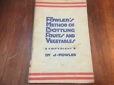 Vintage Fowles Vacola Preserve Booklet 19th Edition