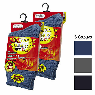 Children's Kids Boys Extreme Heat Thermal Cosy Plain Socks TOG 2.45 Warm Winter