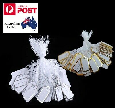 500 Paper String Swing Jewellery Price Tag 500 Pack