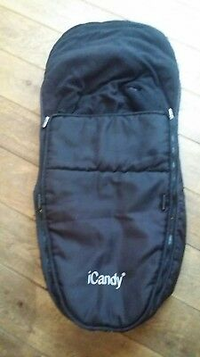 ICANDY cherry apple main seat  footmuff cosytoes black
