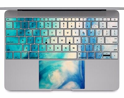 size 40 2dbc3 babd2 MACBOOK PRO AIR 13 15 keyboard Stickers cover Decal skins blue marble KB093