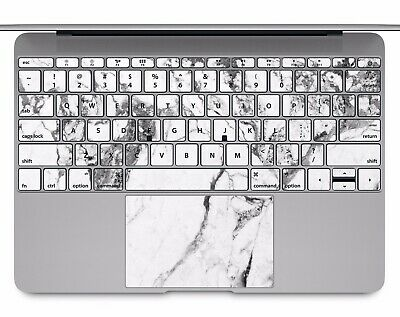 Macbook Pro Air 13 15 keyboard Stickers cover Decal skins white marble KB320
