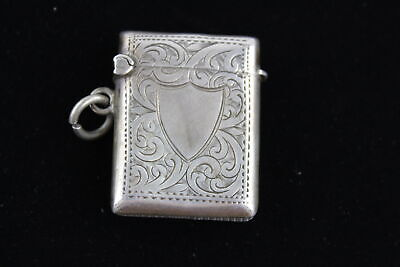 Antique Hallmarked 1903 Birmingham Sterling Silver VESTA Case (16g)